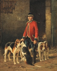 master of the hounds by jean victor albert de gesne