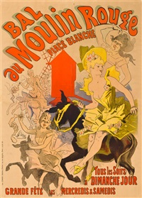 bal au moulin rouge, place blanche by jules chéret
