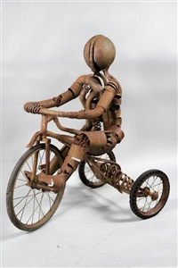 gamin sur un tricycle by marc laffineur