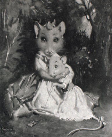 the honourable mrs lavina vole and her daughter vanessa by terence cuneo