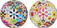 flower ball (3-d) kindergarten (+ flowerball margaret (3d) and 2008; 2 works) by takashi murakami