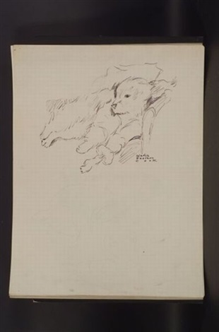 sketch of dog 5 others 6 works by gladys emerson cook