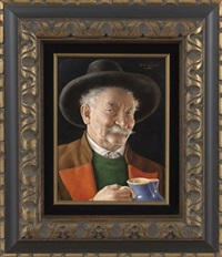 man with a stein by otto eichinger