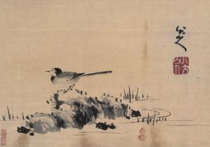 水石小鸟 by bada shanren