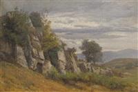 paysage de garrigue by nathanaël lemaitre