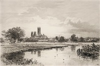 canterbury from the meadows by axel herman haig