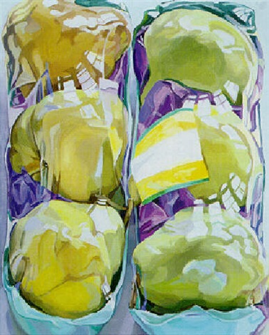 untitled two packages of pears by janet fish