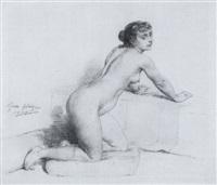 femme nue by pierre paul léon glaize