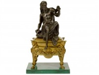 grecian philosopher seated on a table by anonymous-european (19)