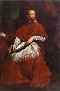 portrait du cardinal bentivoglio by sir anthony van dyck