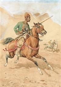 orientalischer reiter by giuseppe gabani