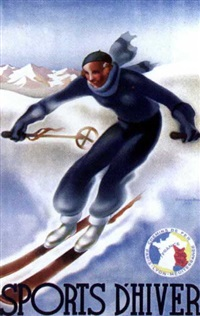 sports d'hiver by georges arou