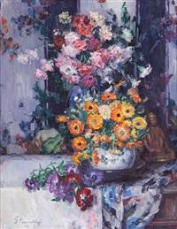 nature morte aux fleurs by hubert glansdorff