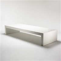 bench from the 165 charles street offices, new york by richard meier