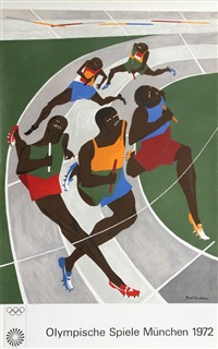 olympische spiele muenchen (the runners) by jacob lawrence