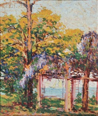 arbor in spring, possibly provincetown by anne wells munger