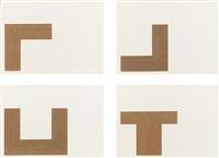 copper series (portfolio of 7) by frank stella
