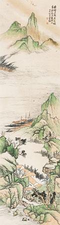 晓峰烟树图 by xiao xun