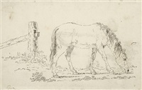 grasendes pferd by franz pforr