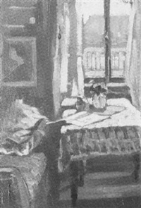 interieur mit fensterausblick by karl merz