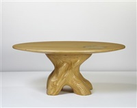 mesa baum dining table with inset bowl by julia krantz