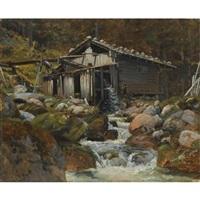 sagmølle, gollingen (sawmill, gollingen) by thomas fearnley