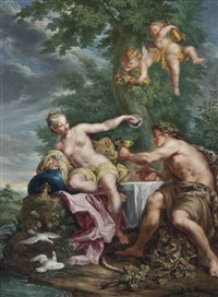 alliance between bacchus and venus by noël nicolas coypel