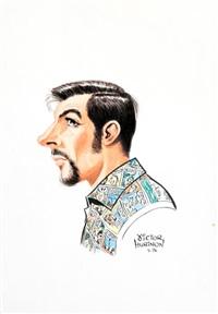caricature by hubinon