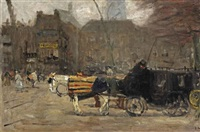 carriages at the buitenhof, the hague by floris arntzenius