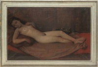 reclining nude by h. bacher