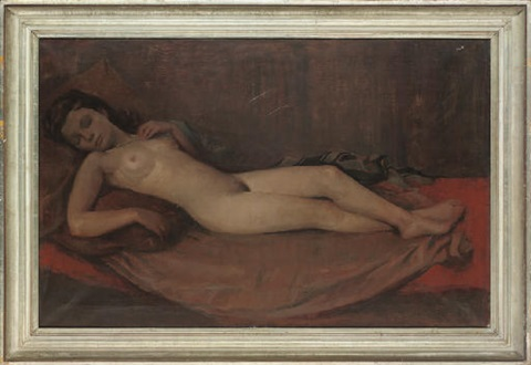 reclining nude by h bacher