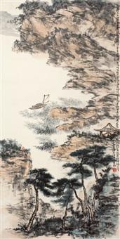 太湖黿头渚 (landscape) by ren zhenhan