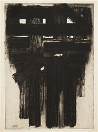 eau-forte n° iii by pierre soulages