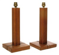 pair of table lamps by le tanneur