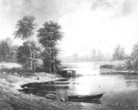 moonlit shore by aleksandr vasil'evich gine