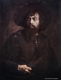 portrait des carl perron als holländer mit autograph by hugo erfurth
