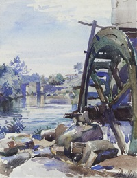 vista de rio com azenha by joão alves de sá