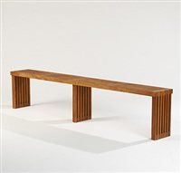 unique long bench by elliot noyes and george nelson