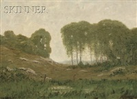 landscape with a stand of trees by robertson k. mygatt