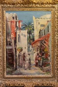 orientalische basarszene by josef steib