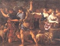 mosè difende le figlie di ietro by nicola vaccaro