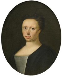 portrait of a woman by gerard jan palthe