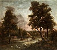 klassiskt landskap med figurer by jonas carl linnerhielm