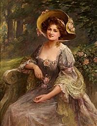 elegant dam i hatt by sydney percy kendrick