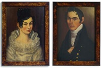 a pair of portraits: mr. and mrs. kimball dustin by thomas ware