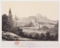 ansicht von salzburg von parsch/aigen (from erinnerungen aus österreich) by johann fischbach
