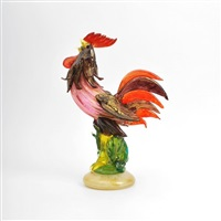 rooster figurine by avem (arte vetraria muranese)