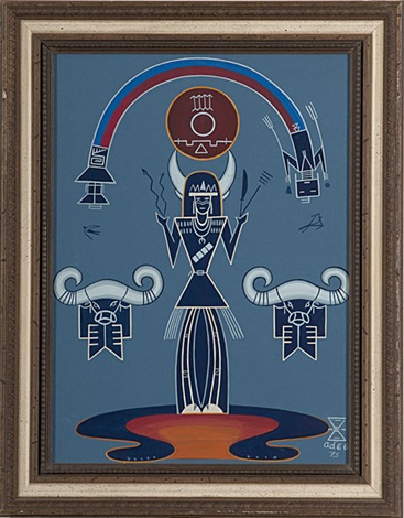 native american scenes shrine of white buffaloes and spirit horse of the ancient west 2 works by adee dodge
