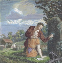 lovers in a graveyard by george allen