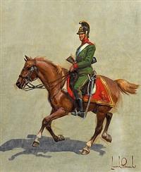 österreichischer kavallerist um 1850 by leszek piaseck